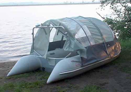 тент крыша для лодки пвх своими руками