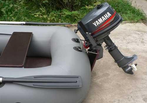 установка мотора на лодку пвх видео
