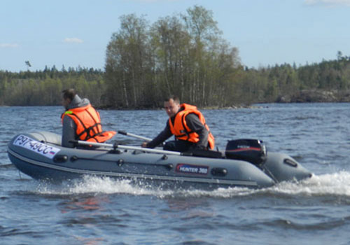 лодки изо  поливинилхлоридный  хантер